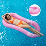 MiiDD Aufblasbare Float,Wasserhängematte mit Netz,Luftmatratze Wasser Pool Hängematte Wasserliege Schwimmring mit Netz,165x75