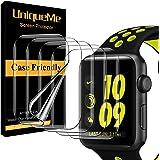 UniqueMe [5 Pack] Protector de Pantalla Compatible con Apple Watch 40mm Series 6/5/4/ SE y Apple Watch Series 3/2/1 38mm,Sin