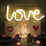 Néon Love Signs Light LED Amour Art Décoratif Signe de Chapiteau - Décoration Murale / Décoration de Table pour Fête de Maria