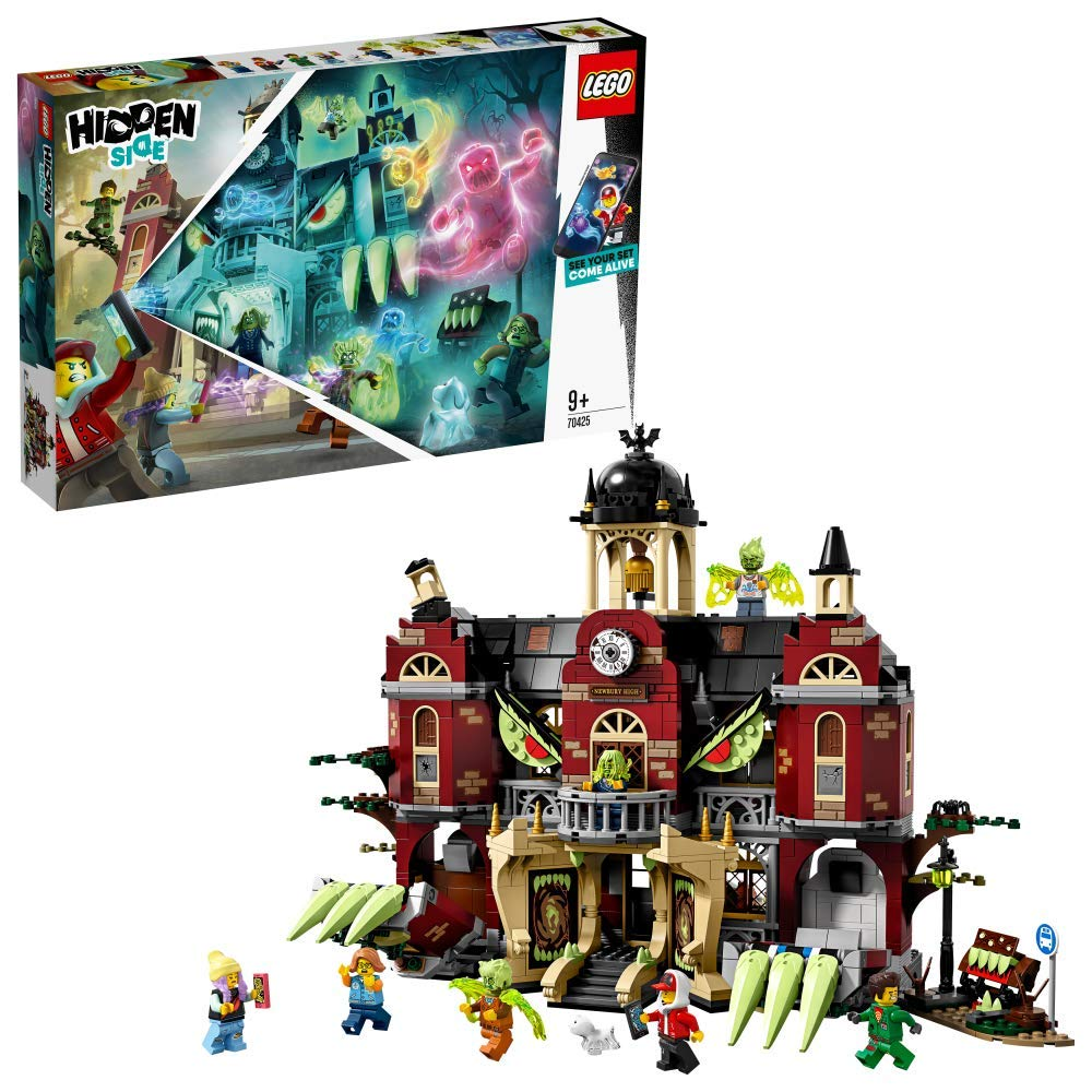 LEGO – Hidden Side Instituto Encantado de Newbury Juguete de construcción con realidad aumentada e interactivo, incluye edicifio y figuras de fantasmas, Novedad 2019 (70425)