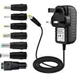 YUWLDD Power Supply Adapter 12V 1A 12W,Power Plug for 12V Home Appliances,CCTV Camera,Yamaha keyboard,Routers,Hubs,LED…