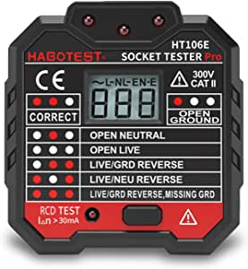 Socket Outlet Tester Circuit Polarity Voltage Detector Finder RCD Test UK EU NEW