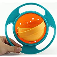Modulyss Kids Magic Bowl Universal 360 Rotate Funny Toys Baby Gyro Feeding Toy Bowl Dishes Kids Boy Girl Spill Proof Bowl