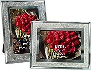 Umi. by Amazon - Cornici Foto 10x15cm con Vetro Scintillante, 2 Pezzi