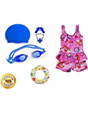 9c78e2f03 Baby & Sons Girls Swimming Kit with Swimming Costume (Color/Design May Vary)