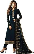 PRINCE FASHION Store Women's Georgette Semi Stitch Salwar Suit (PRINCEfsn ER107102_Green_Free Size)