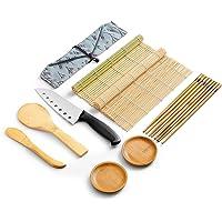 WeeDee Bambou Sushi Maker Kit - roulettes pour Sushi en Bambou, 2 x Tapis, 1 pagaie de Riz, 1 x épandeur de Riz, 5…