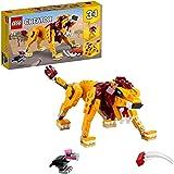 LEGO 31112 Creator 3in1 Wilde Leeuw, Struisvogel, Wrattenzwijn Minifiguren Bouwset, Speelgoeddieren voor Kinderen van 7+
