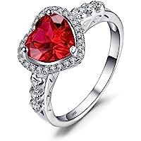 JewelryPalace Anello Kate Middleton, Principessa Diana William Sintetico Zaffiro Smeraldo Anelli Donna Argento 925…