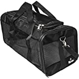 Risan Pet Transport Carrier Bag for Small Dogs Puppy Kittens Airline Travel Approved with Breathable Mesh Panels for…