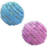 DXIA Lot de 2 Boule de Lavage ecologique réutilisable, Naturelle Ecologique Réutilisable avec des Perles Alternative au…