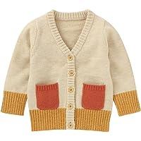 Nouveau-né bébé garçon Fille Cardigan à Manches Longues Bouton col en V Pull tricoté Veste Manteau Automne Hiver…