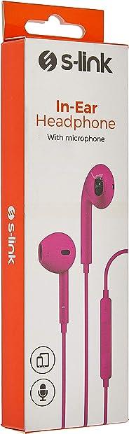 S-link IP-601 iPhone-iPad Pembe Mikrofonlu Kulaklık