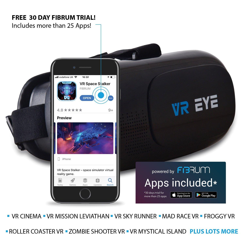Casque lunette Bitmore VR EYE V2.0 VR pour des smartphones 4.0″ -6.5″ iOS/andriod avec télécommande Bluetooth se mettant sur le front.
