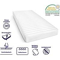 Mister Sandman atmungsaktive 7-Zonen-Kaltschaummatratze für erholsamen Schlaf – Matratze mit hochwertigem Mikrofaser, Härtegrad H2&H3, Höhe 15cm.
