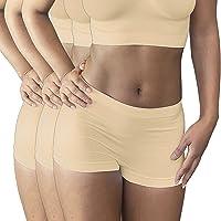 Pack x3 - Boxer Femme sans Couture - Shorty Microfibre Stretch - Ultra Doux et Confortable - Coloris au Choix: Noir…