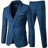 Allthemen Abiti da Uomo 3 Pezzi Abito da Sposa Slim Fit Giacca a Un Bottone Formale Giacche Pantaloni Gilet
