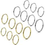 Milacolato 14 PCS 1MM Anelli in Acciaio Inossidabile per Donne Ragazze Band Knuckle Anelli Impilabili Fashion Midi Rings Set
