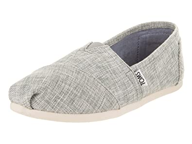 TOMS Natural Metallic Burlap Alpargatas, Chaussons Bas Femme, Gris (Natural Metallic), 42 EU