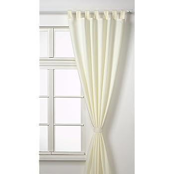 vorhang blickdicht matte unifarbene gardine mit schlaufen aus edlem microsatin. Black Bedroom Furniture Sets. Home Design Ideas