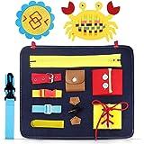 aovowog Busy Board para Niños,Juguetes de Bebé Habilidades de Vida básicas Tablero,Juguetes Sensoriales Montessori para Bebés