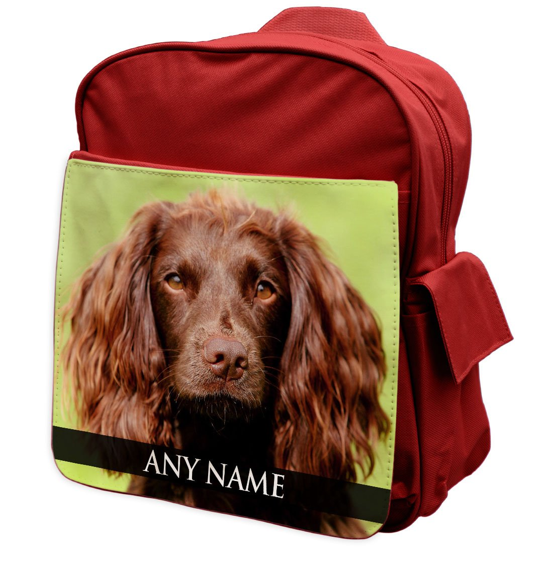 Personalised Field Spaniel Dog Animal RED Rucksack Backpack 118