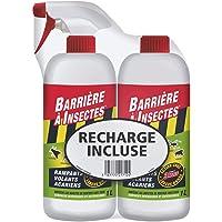 BARRIERE A INSECTES Insectes Rampants, Volants, Acariens, Prêt à l'Emploi 1 L + Sa Recharge 1 L, BARSEC1000NR