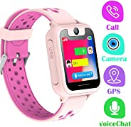 LDB Bambini Smartwatch Telefono, Smartwatch Bambini GPS/LBS Tracker Touch Screen SOS Vocale Chiamata Camera Remota Sveglia G