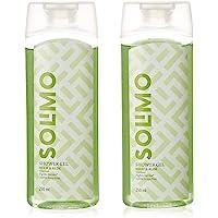 Amazon Brand - Solimo Antibacterial Shower Gel, 250 ml (Pack of 2)