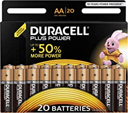 Duracell Plus Power Typ AA Alkaline Batterien, 20er Pack