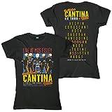 Star Wars Cantina Band On Tour Mujer Camiseta Negro, Regular
