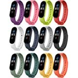 MoKo 12-Pack Straps Compatible with Xiaomi Mi Band 6/Mi Band 5, Adjustable Wristband Soft Silicone Sports Replacement Watchba