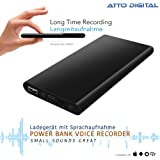 Enregistreur Vocal 14 Jours Autonomie | Chargeur Portable et Enregistreur à Commande Vocale 380 heures | Connexion aux Téléph