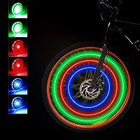 Mudder 12 Pièces Lumières de Roue de Vélo LED Lumières de Rayons de Vélo Étanches Lumières de Roue de Vélo Colorées 3…