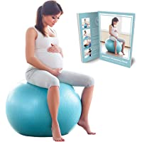 BABYGO® Birthing Ball For Pregnancy Maternity Labour & Yoga + Our 100 Page Pregnancy Book, Exercise, Birth & Recovery…