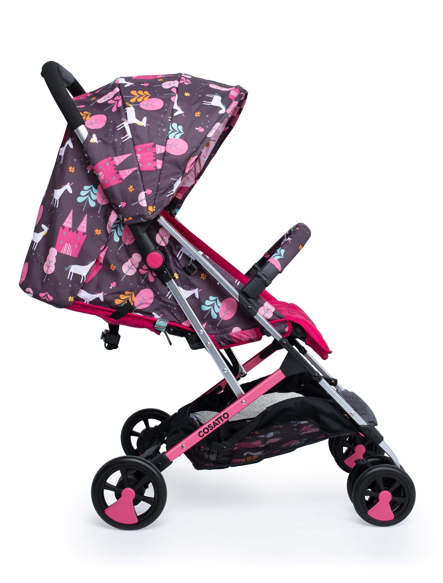 Cosatto CT4224 Woosh 2 Unicorn Land 7.2 kg Cosatto Suitable from birth to max weight of 25kg, lets your toddler use it for even longer Lightweight, sturdy aluminium frame New-born recline 2