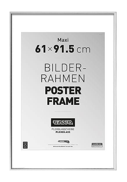REINDERS Bilderrahmen für Maxi-Poster 61x91,5cm Kunstoff Weiß ...