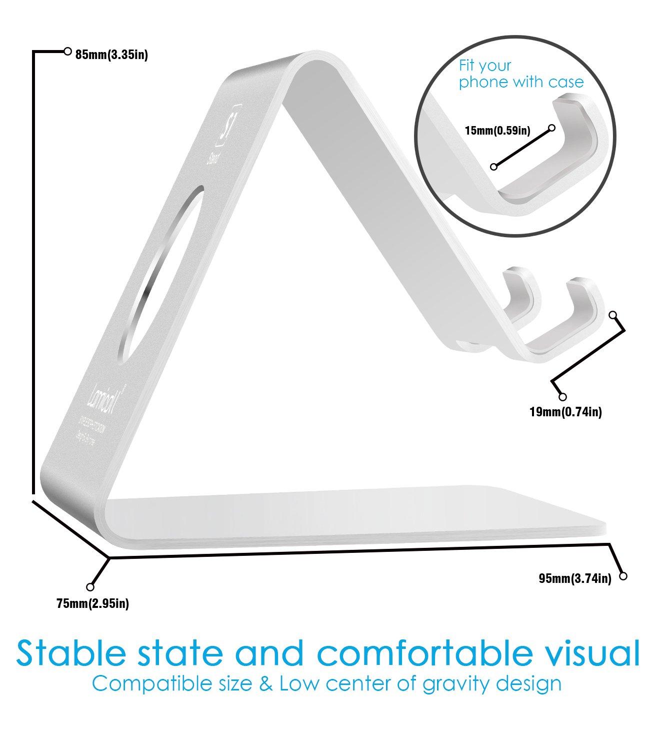 handy halterung lamicall iphone dock phone st nder iphone. Black Bedroom Furniture Sets. Home Design Ideas