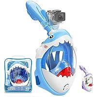 Tauchermaske Vollmaske für Kinder mit Anti-Fog und Anti-Leck Technologie, Schnorchelmaske mit Kamerahalter und 180…