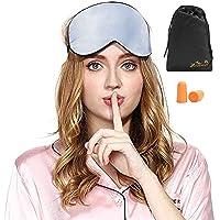 Viedouce Schlafmaske Seide Augenmaske,100% Hautfreundlich Seide Schlafmaske Frauen und Herren, Angenehme Schlafmaske…