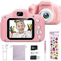 Appareil Photo Enfants,Appareil Photo Numerique Jouet pour Enfant Cadeau Jouet pour 3-8 Fille Ans Mini Appareil Photo…