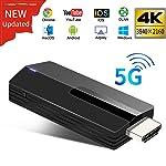 YEHUA Wifi Display Dongle HDMI 4K Wireless 5G/2.4G Display Adapter Unterstützung Miracast Airplay DLNA für Android / IOS...