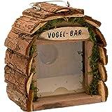 Gardigo Vogel-Bar I Futterstation aus Holz für Garten und Balkon I Vogelhaus zum aufhängen, Dekoratives Vogelhäuschen | Deutscher Hersteller