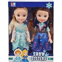 CHORDS Snow Sisters Doll Set (Medium, Blue)