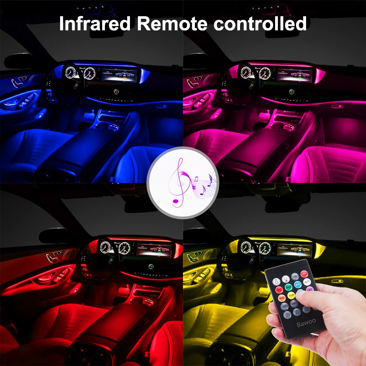 Lampadine Led Auto Interni.Bawoo Luce Interna Auto Interni 48 Led Illuminazione Auto