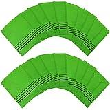 Italy Towel Scrubhandschoenen, echte Koreaanse exfoliërende scrubhandschoenen voor in bad, groen, 14 cm x 15 cm, 20 stuks