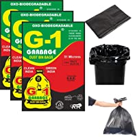 G 1® Oxo Biodegradable Garbage Bags for Home Kitchen | 19 X 21 Inch Medium Size | Black Color | 90 Pieces (Pack of 3…