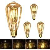 Albrillo Ampoule LED Edison E27, Dimmable Lampe Edison Vintage 6W 600Lm, Equivalent 60W, 2500K Blanc Chaud Rétro Filament Amp