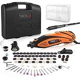 TACKLIFE Mini Amoladora Eléctrica Advanced Professional Kit de Herramientas Rotatorias Multifunción con 80 Accesorios y 4 Arc