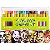 Kinderschmink, 16 stuks bodypaint make-up lichaamsbeschildering sticks gezicht schilderen kleurpotloden voor kinderen Hallowe